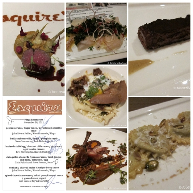 Esquire Dinner at Playa
